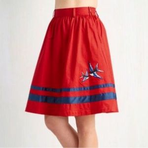 Bea & Dot ModCloth Retro 50's inspired Bird Skirt